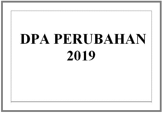 DPA Perubahan 2019